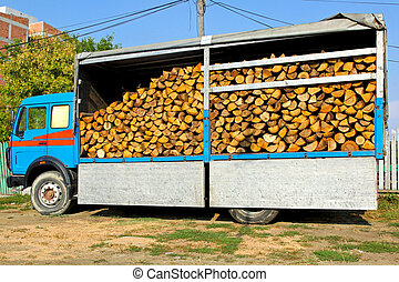 Firewood truck
