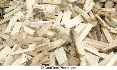 Firewoods from big logs - Firewoods ready to be disposed...