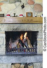 firewoods, kandalló, égető