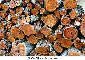 Firewoods, suitable for background