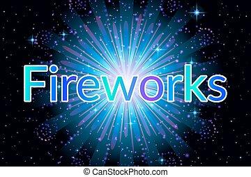 Firework Blue on Black
