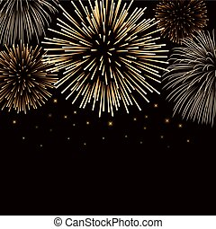 Firework bursting sparkle background gold