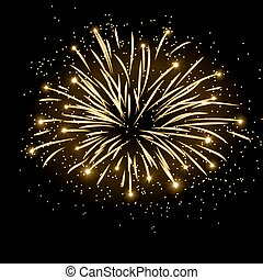 Firework bursting sparkle background