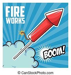 firework celebration explosion night icon.  Vector graphic