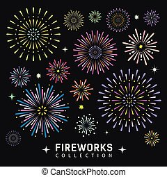 Firework collections design background