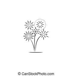 Firework company line logo design