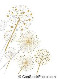 Firework design isolated on white background vector illustration