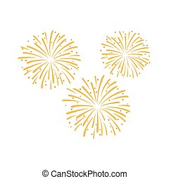 Firework design vector illustration isolated on white background