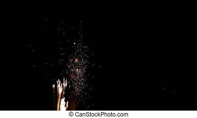 Firework display. 4K Firework in night. - Firework display....