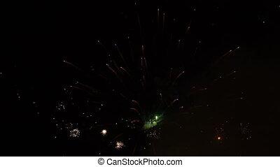 firework display at night, close up