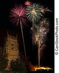 Firework Display on 5th November - England
