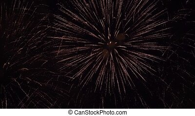 Firework display slowmotion - Firework display compositing...