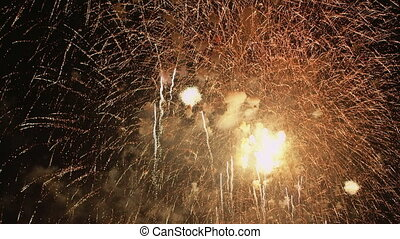 Firework display with sound