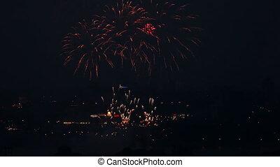 Firework. - Festive firework at the Victoria day.