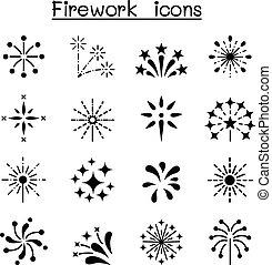 Firework & Firecracker icon set