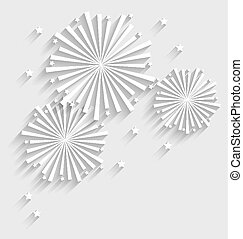 Firework for Holiday Celebration Events, Flat Style Long...