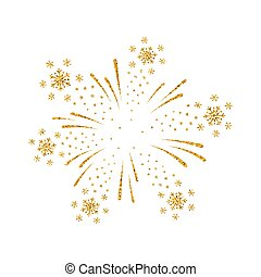 Firework gold isolated