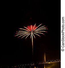 firework, himmelsgewölbe, nacht