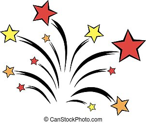 Firework icon cartoon