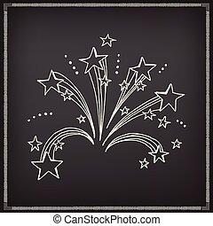 Firework icon sketch design.
