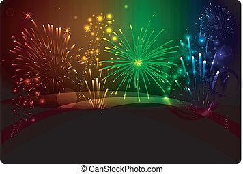 firework - new year, firework