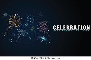 Firework in Celebration Background