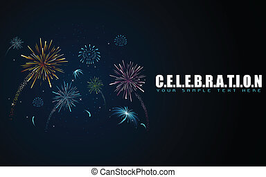 Firework in Celebration Background