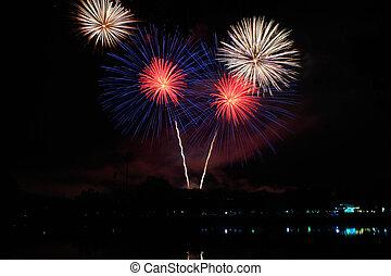 firework in thailand firework happy new year