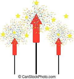 Firework isolated  on white background