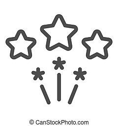 Firework line icon. Stars firework vector illustration isolated on white. Celebration outline style design, designed for web and app. Eps 10.