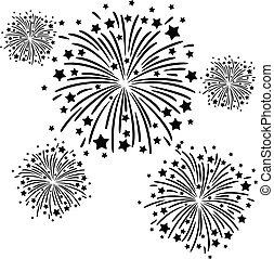 firework, nero