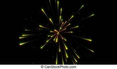 Firework on dark background video concept