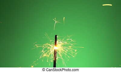 Firework on green screen background