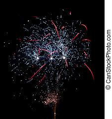 Firework on lake