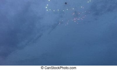 Firework on Victory Day celebration