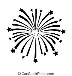 firework on white background