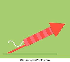 Firework red rocket