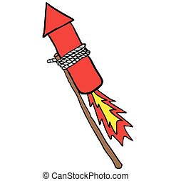firework rocket cartoon