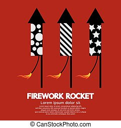 Firework Rocket. - Firework Rocket Vector Illustration.