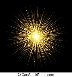 firework salute magic light effect stars burst isolated on trans