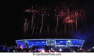 firework, - fireworks to celebrate the victory.