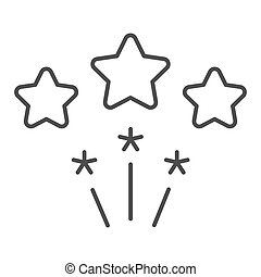 Firework thin line icon. Stars firework vector illustration isolated on white. Celebration outline style design, designed for web and app. Eps 10.