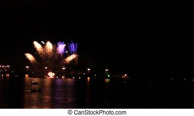 firework. time lapse