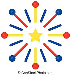 Firework vector, United state independence day related icon