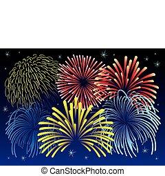 Firework vector illustration. - Vector illustration of...
