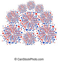 Firework white background