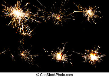 Fireworks abstract holiday background