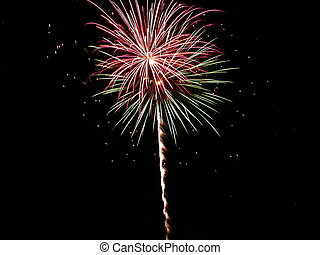Fireworks - an exploding firework, image taken on July 4th...
