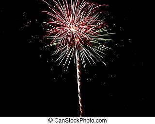 Fireworks - an exploding firework, image taken on July 4th...