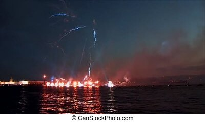 Fireworks and laser